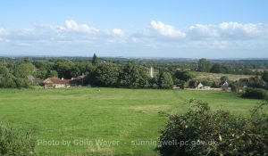 Sunningwell Village from Boars Hill 2009